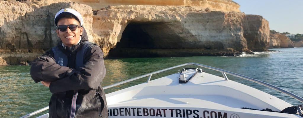 Excursion en bateau privé aux grottes de Benagil plus