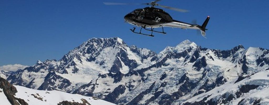 35-minutowy przelot samolotem narciarskim na Mt Cook