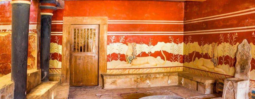 Tour del palacio de Knossos y el museo de Heraklion desde Chania