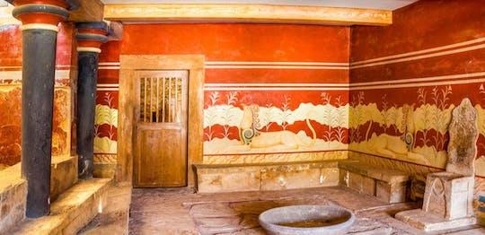 Wycieczka po pałacu Knossos i muzeum Heraklion z Chanii