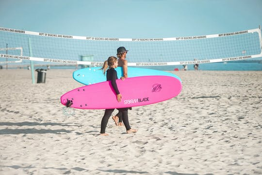 Venice Beach private Surfstunde