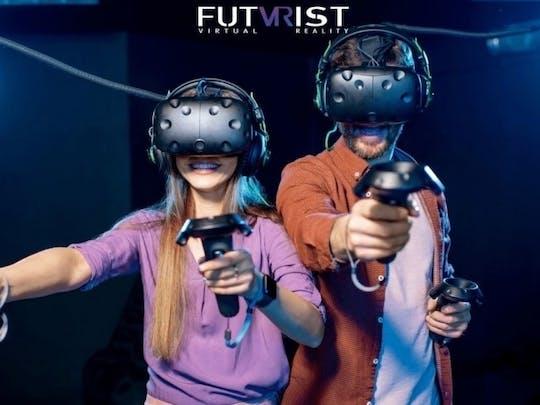 30 minutos grátis de sessão de jogo de realidade virtual em arena