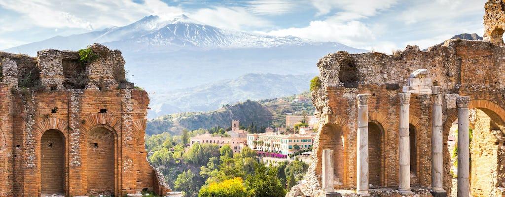 Tour di un'intera giornata sull'Etna e Taormina da Palermo