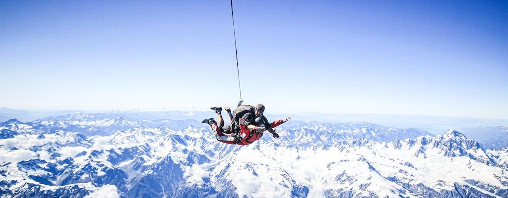 Tandem skydive 20,000ft above Franz Josef and Fox Glaciers