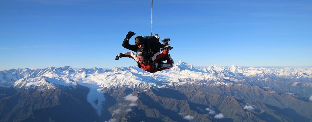 Tandem skydive 13,000ft above Franz Josef and Fox Glaciers
