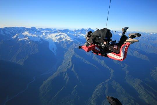 Tandem-skydive 9.000 voet boven Franz Josef en Fox Glaciers