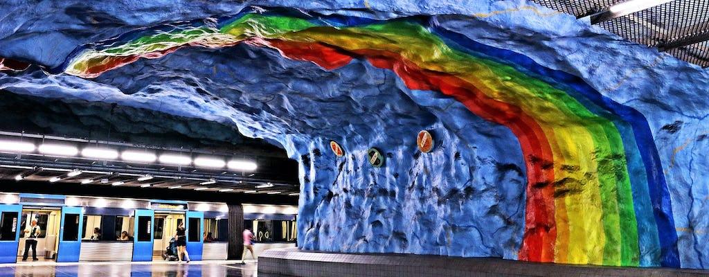 Passeio a pé pela arte no metrô de Estocolmo