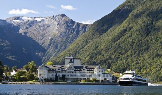Руководствуясь день-тур на Согнефьорд и Флом в Норвегии круиза и Фломской железной дороги