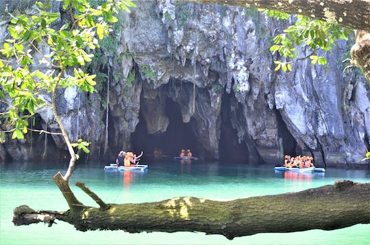 Private underground river and Ugong Rock Cave with zipline tour