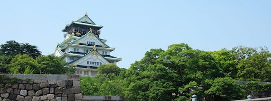 Private Osaka castle walking tour and Dotonbori food experience