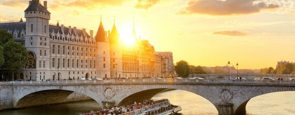 Excursão de ônibus hop-on hop-off, ingressos para Conciergerie e cruzeiro no rio