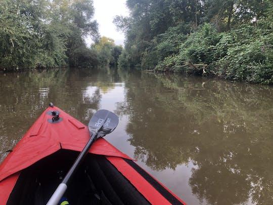 Wycieczka kajakiem z przewodnikiem po rzece Neckar koło Ladenburga