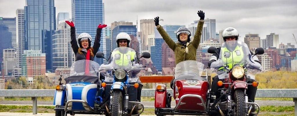 Vintage zijspan motorfiets sightseeingtour door Calgary