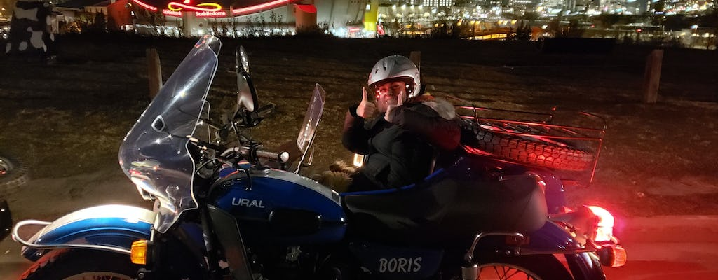 Creepy ghost tour of Calgary in a vintage sidecar motorcycle