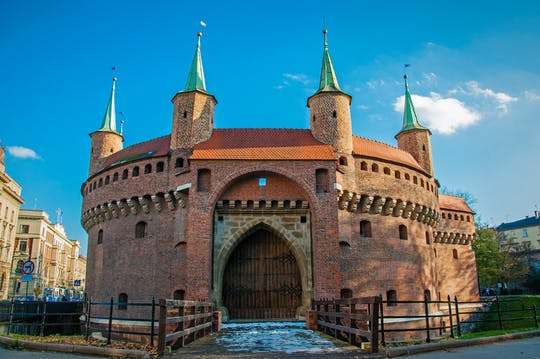 Visita guiada privada ao centro histórico de Cracóvia e ao Museu Barbican