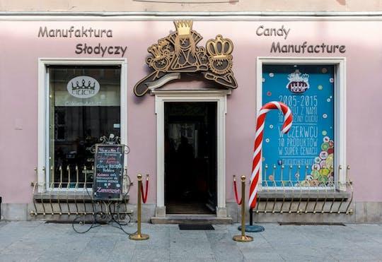 Gezinsvriendelijke historische wandeltocht door Krakau met Sweet Factory-ticket