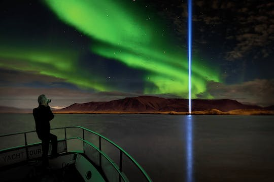 Northern lights luxury cruise with dinner in Reykjavik