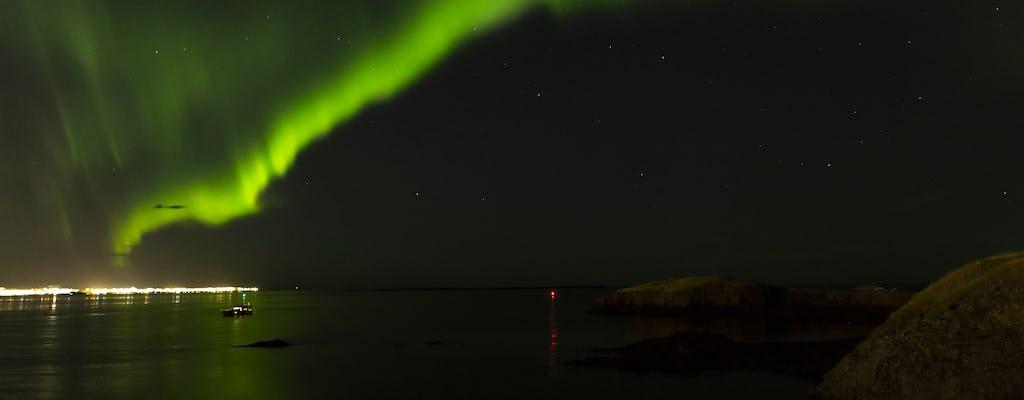 Crociera privata di lusso per l'aurora boreale a Reykjavik