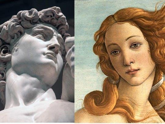 Visita guiada semiprivada a los Uffizi y la Academia