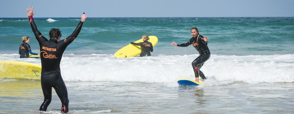Beginners surf experience in Newquay