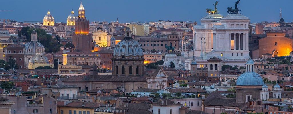 Autotour durch Rom in der Dämmerung