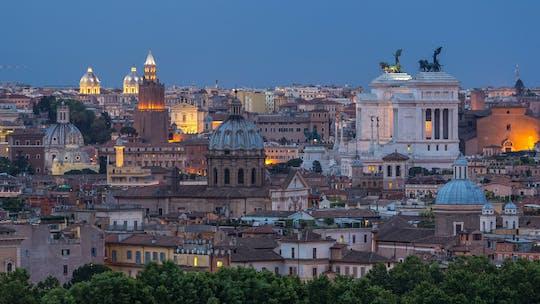 Car tour of Rome at twilight