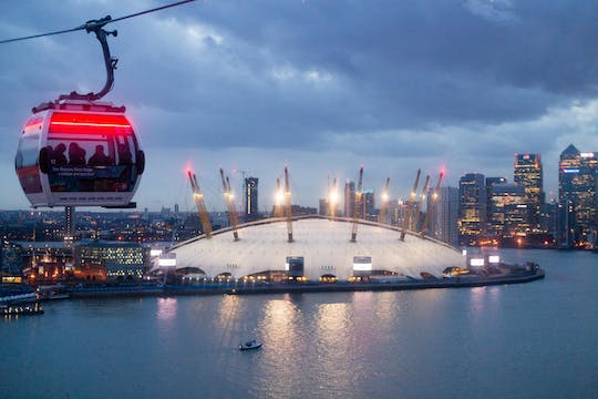 Passeio de teleférico da Emirates Airline e passagem só de ida do Uber Boat by Thames Clippers