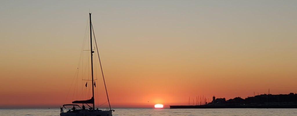 Cascais privécruise bij zonsondergang