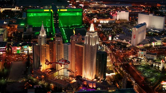 Las Vegas Strip highlights night flight