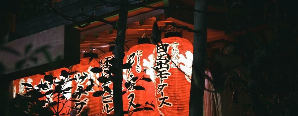 Kyoto-rijstroken en lantaarns bij nachttour met gids