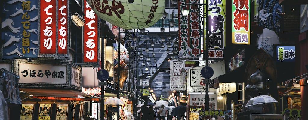 Osaka guided walking tour