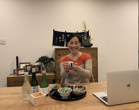 Dégustation de saké et expérience en ligne de la culture Izakaya
