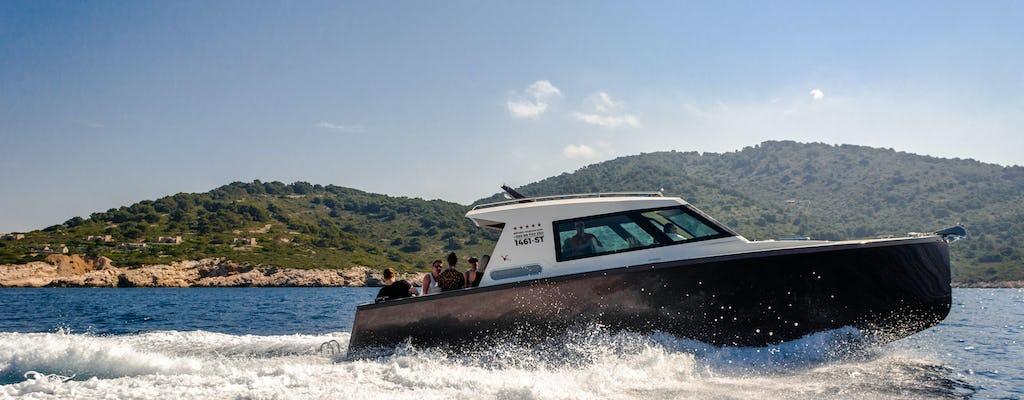 Visite de la grotte bleue et des îles au départ de Split sur un bateau de luxe
