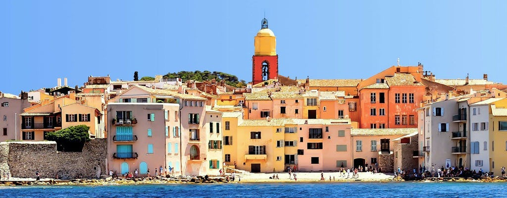 Boat & snorkeling trip to St Tropez via the Esterel Calanques from Cannes