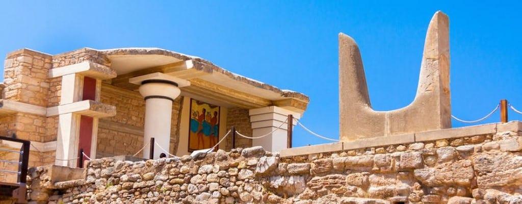 Excursão privada ao Palácio de Knossos e aldeias cretenses de Heraklion