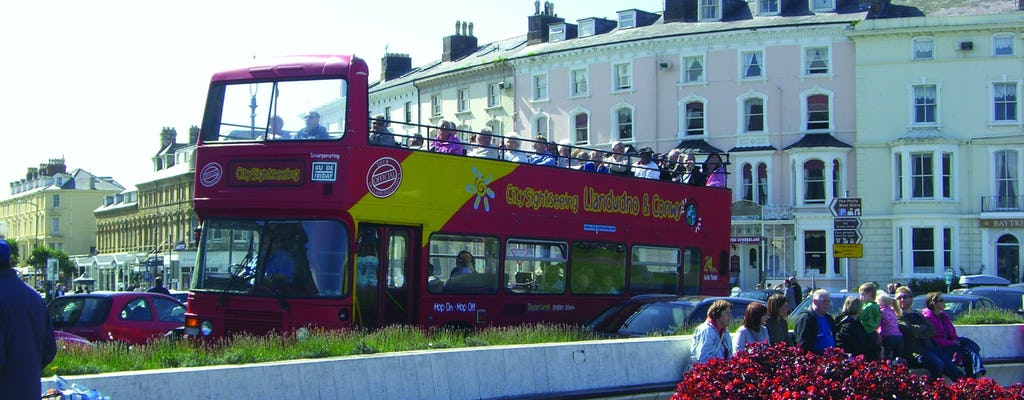 City Sightseeing hop-on hop-off bus tour of Llandudno