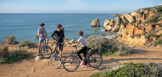 Albufeira city and beach e-bike tour