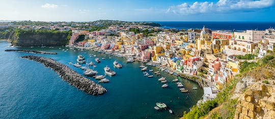 Ischia and Procida luxury schooner cruise with lunch and snorkeling