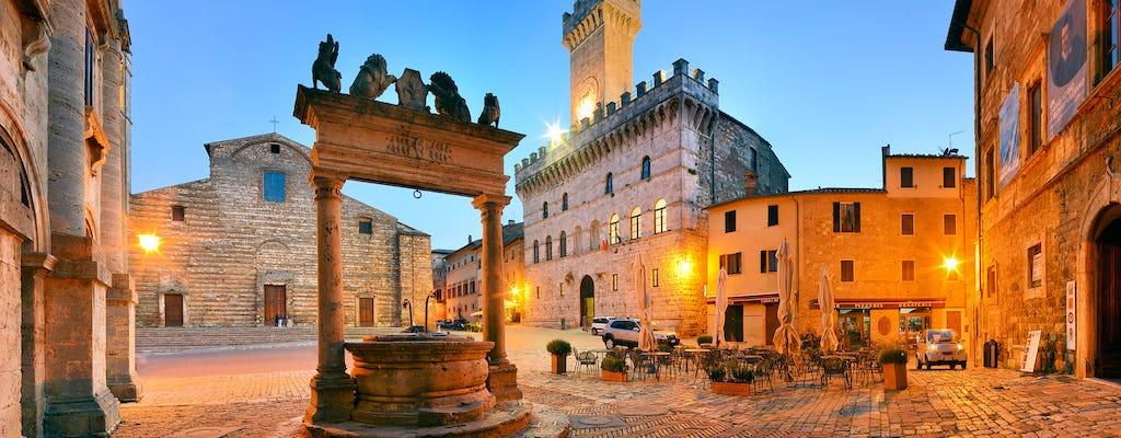 Montepulciano en Monte Oliveto Maggiore tour met proeverij