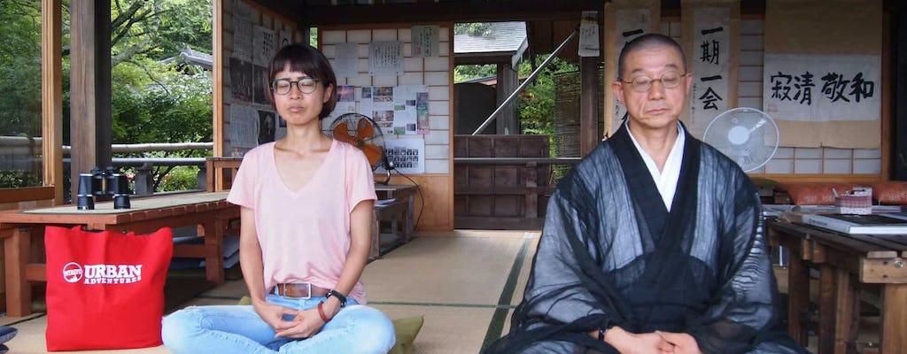 Führung durch West-Kyoto mit Zen-Unterricht und Teezeremonie