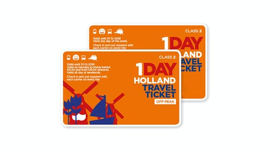 Boleto de viaje de Holanda