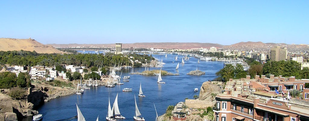 Aswan boat tour on a traditional felucca
