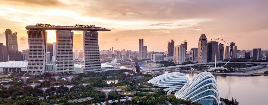 Gra i wycieczka o podróżach w czasie do centrum Singapuru