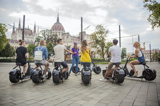Guided E-scooter parliament tour in Budapest