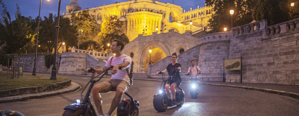 Guided sunset and night tour in Budapest by E-scooter