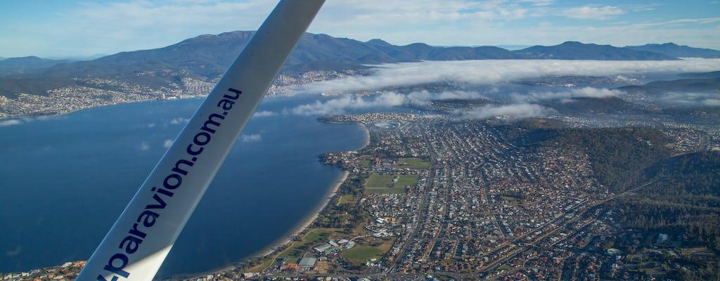 Passeio panorâmico de voo de 30 minutos pela cidade de Hobart