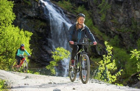 Private Tagestour nach Flåm mit RIB-Fjord-Safari, Rallarvegen-Radfahren und Flåm-Bahn