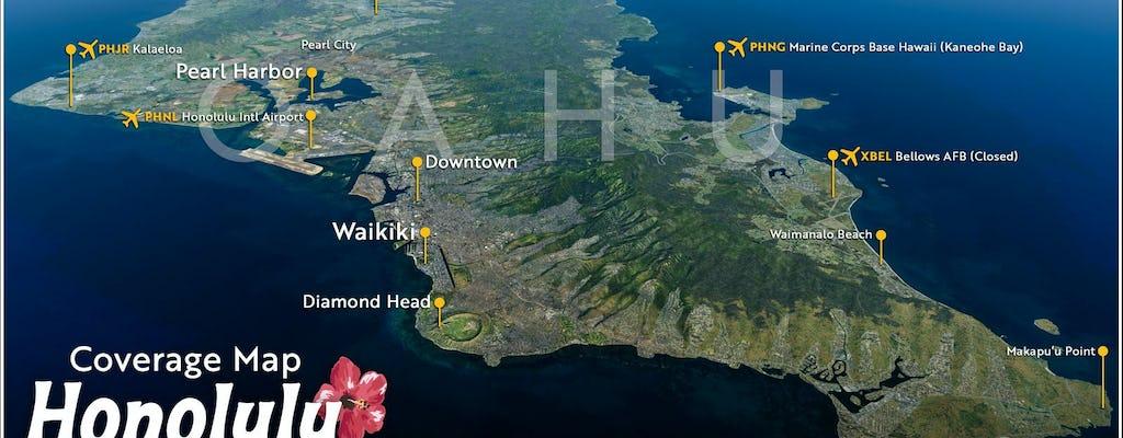 iFLY simulator Honolulu cityscape
