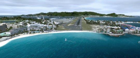 Simulatore iFLY spiaggia agghiacciante di St. Marteen