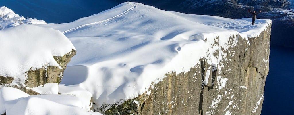 Excursion d'une journée à Lysefjorden et Pulpit Rock avec un guide en hiver